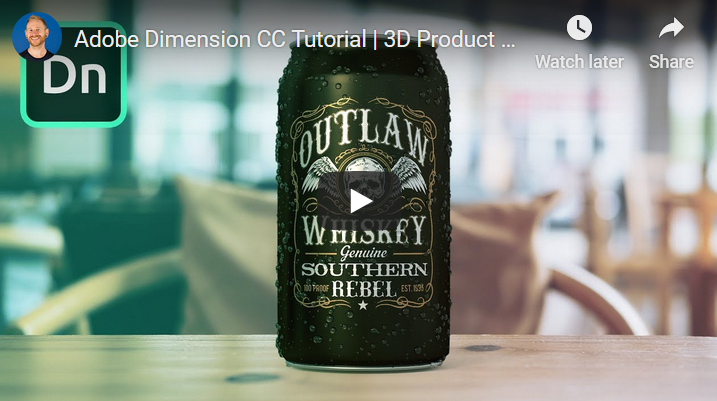 Adobe Dimension CC Tutorial | 3D Product Mockups for Beginners