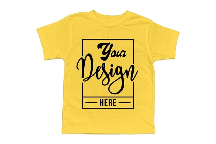 Free Yellow Bella T Shirt Mockup